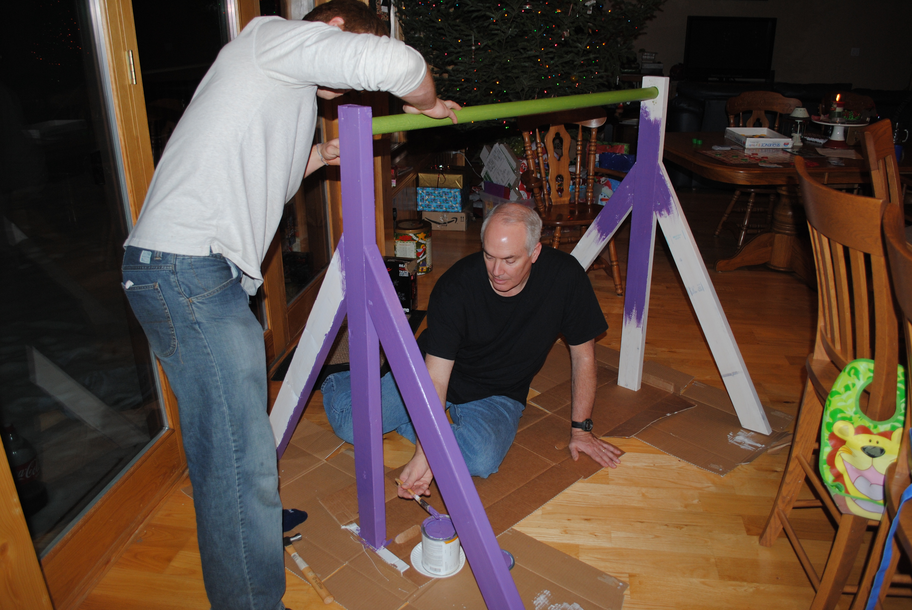 How To Build Gymnastics Bars http://hesowedshesewed.com/2012/01/16/gymnastics-bar/